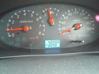 メーター4万km