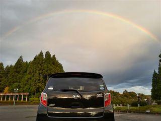 ミライースと虹